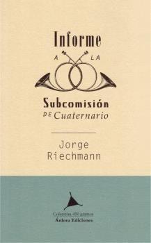 INFORME A LA SUBCOMISIÓN DE CUATERNARIO