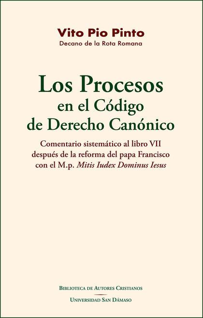 PROCESOS EN EL CODIGO DE DERECHO CANONICO, LOS