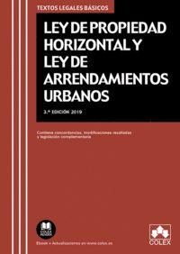 LEY DE PROPIEDAD HORIZONTAL Y LEY DE ARRENDAMIENTOS URBANOS                     TEXTO LEGAL BÁS