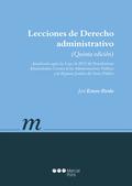 LECCIONES DE DERECHO ADMINISTRATIVO (5ª ED).