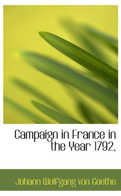 Campaign in France in the Year 1792,