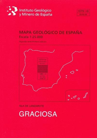MAPA GEOLÓGICO DE ESPAÑA, E 1:25.000. HOJA 1079-II-III, GRACIOSA.