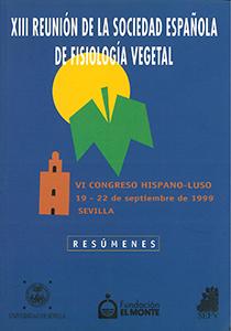ACTAS XIII REUNIÓN DE LA SOCIEDAD ESPAÑOLA DE FISIOLOGÍA VEGETAL.