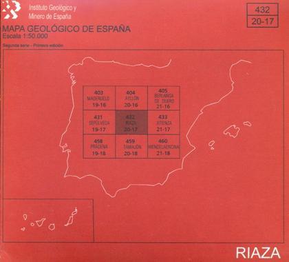 MAPA GEOLÓGICO DE ESPAÑA ESCALA 1:50.000. RIAZA, 432