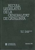 RECULL LEGISLATIU DE LA GENERALITAT DE CATALUNYA. TOM II. VOL. 1. TRANSFERÈNCIES.