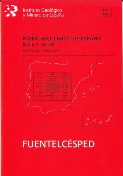 MAPA GEOLÓGICO DE ESPAÑA. E 1:50.000. HOJA 375, FUENTELCÉSPED