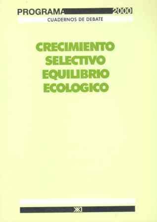 CRECIMIENTO SELECTIVO EQUILIBRIO ECOLO