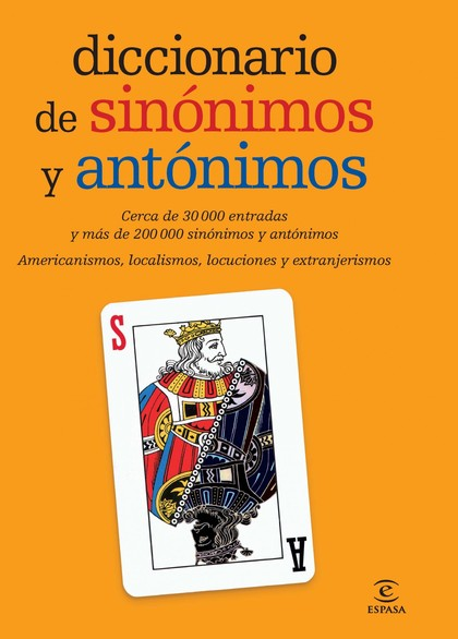 DICCIONARIO DE SINÓNIMOS Y ANTÓNIMOS.