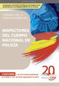 INSPECTORES DEL CUERPO NACIONAL DE POLICÍA CIENCIAS JURÍDICAS. TEMARIO VOL. II.. ...JURIDICAS