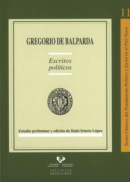 GREGORIO DE BALPARDA : ESCRITOS POLÍTICOS