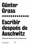 ESCRIBIR DESPUES AUSCHWITZ