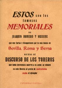 ESTOS SON LOS FAMOSOS MEMORIALES DE JOAQUÍN ROMERO MURUBE