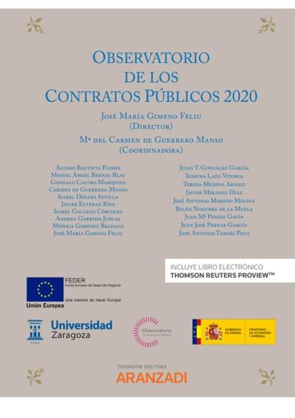 OBSERVATORIO DE LOS CONTRATOS PÚBLICOS 2020 (PAPEL + E-BOOK).