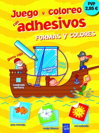 FORMAS Y COLORES. JUEGO Y COLOREO CON ADHESIVOS 7