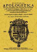 HISTORIA APOLOGÉTICA EN LOS SUCESOS DEL REINO DE ARAGÓN : Y LA CIUDAD DE ÇARAGOÇA, AÑOS DE 91 Y