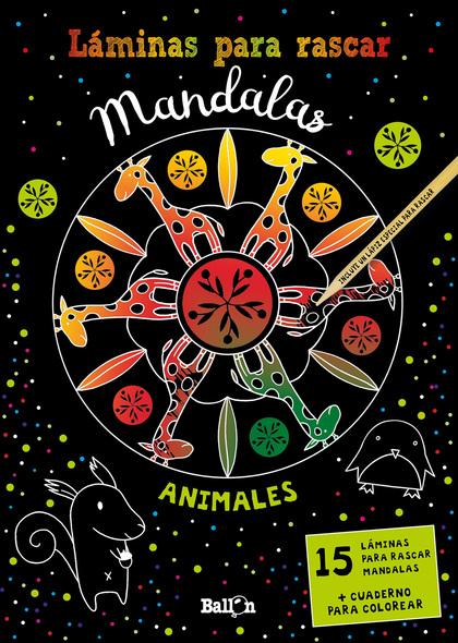 LÁMINAS PARA RASCAR MANDALAS - ANIMALES