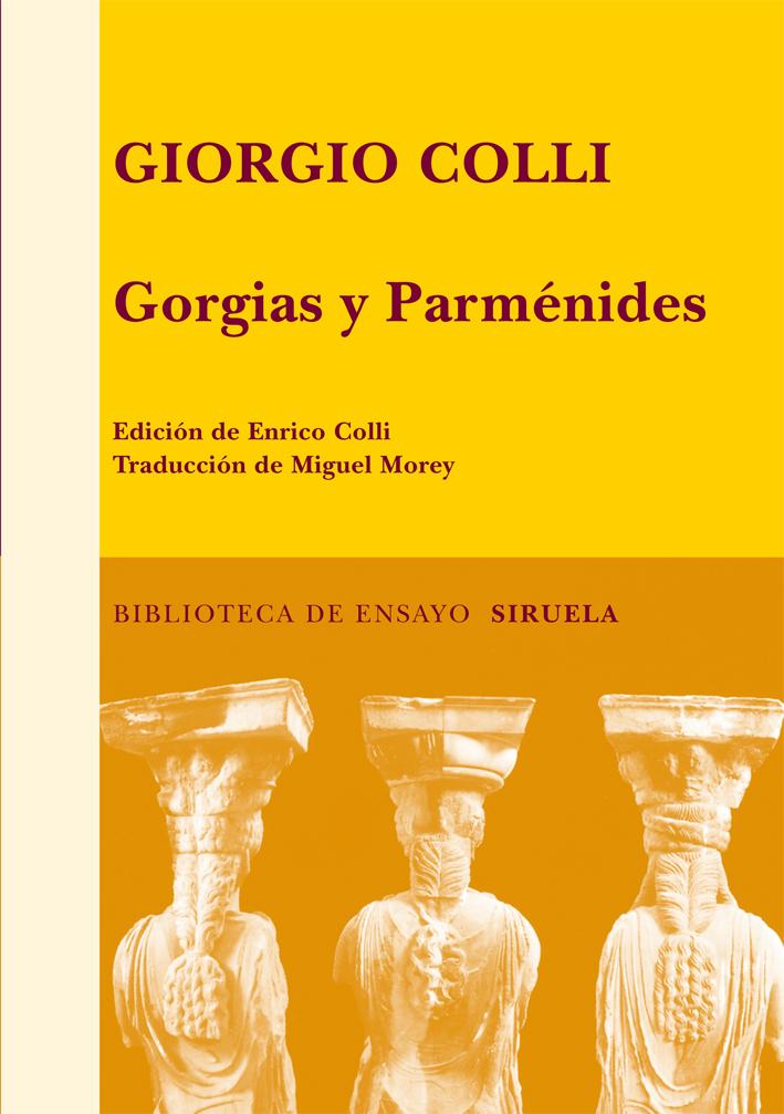 GORGIAS Y PARMÉNIDES