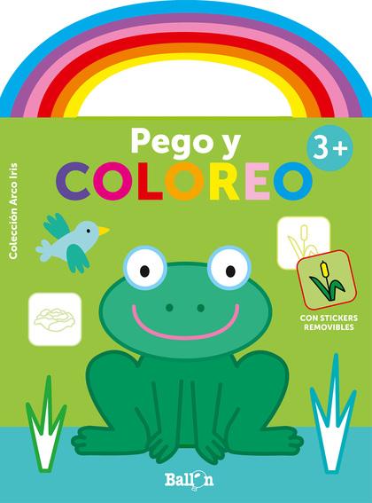 ARCO IRIS - PEGO Y COLOREO +3 RANA