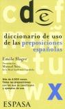 DICCIONARIO DE USO DE LAS PREPOSICIONES ESPAÑOLAS