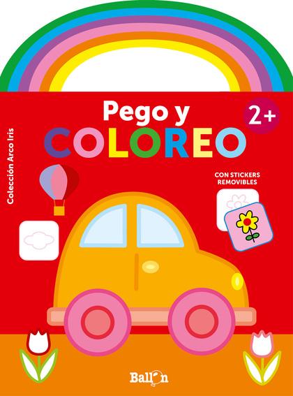 ARCO IRIS - PEGO Y COLOREO +2 COCHE