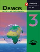 DEMOS, CIENCIAS SOCIALES, GEOGRAFÍA E HISTORIA, 3 ESO (ANDALUCÍA)