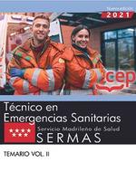 TECNICO EMERGENCIAS SANITARIA SERVICIO MADRILEÑO VOL 2