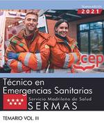 TÈCNICO EN EMERGENCIAS SANITARIAS.SERMAS.(TEMARIO VOL.II).