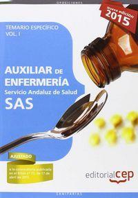 AUXILIAR DE ENFERMERIA SAS VOL 1. SERVICIO ANDALUZ DE SALUD