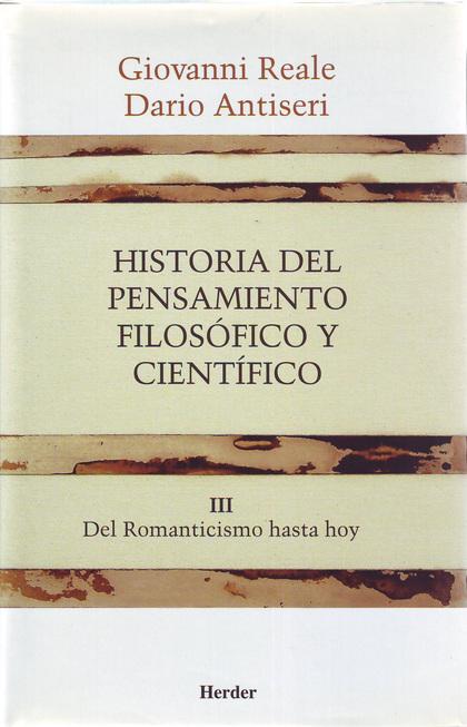 HISTORIA PENSAMIENTO FILOSOFICO Y CIENTIFICO( rustica),III