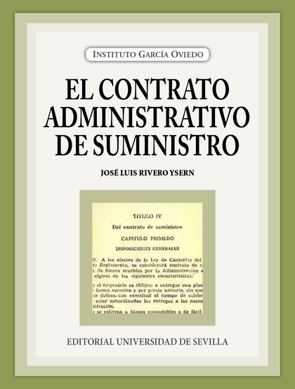 EL CONTRATO ADMINISTRATIVO DE SUMINISTRO.