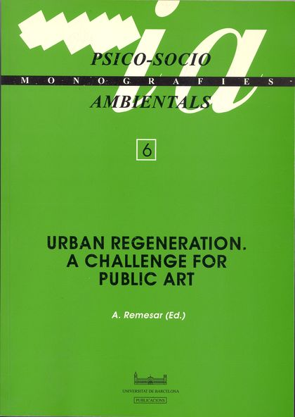 URBAN REGENERATION : A CHALLENGE FOR PUBLIC ART