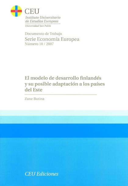 EL MODELO DE DESARROLLO FINLANDÉS Y SU POSIBLE ADAPTACIÓN A LOS PAÍSES DEL ESTE