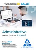 ADMINISTRATIVO DEL SERVICIO DE SALUD DE LAS ILLES BALEARS (IB-SALUT). TEMARIO PA