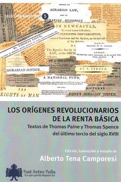 LOS ORÍGENES REVOLUCIONARIOS DE LA RENTA BÁSICA. TEXTOS DE THOMAS PAINE Y THOMAS SPENCE DEL ÚLT