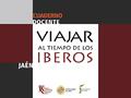 VIAJAR AL TIEMPO DE LOS IBEROS (CUADERNO DOCENTE).