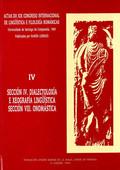 ACTAS DO XIX CONGRESO INTERNACIONAL DE LINGÜÍSTICA E FILOLOXÍA ROMÁNICAS. IV: DI