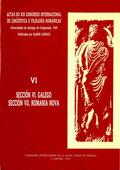 ACTAS DO XIX CONGRESO INTERNACIONAL DE LINGÜÍSTICA E FILOLOXÍA ROMÁNICAS. VI: GA