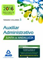 AUXILIAR ADMINISTRATIVO TEMARIO 3 JUNTA ANDALUCIA 2016 CONV