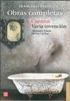 OBRAS COMPLETAS. TOMO I. CUENTOS / VARIA INVENCIÓN
