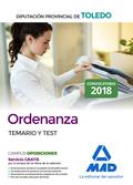 ORDENANZA DE LA DIPUTACIÓN PROVINCIAL DE TOLEDO. TEMARIO Y TEST