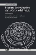 PRIMERA INTRODUCCIÓN DE LA CRÍTICA DEL JUICIO.