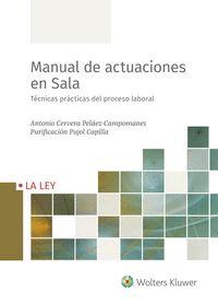 MANUAL DE ACTUACIONES EN SALA                                                   TÉCNICAS PRÁCTI