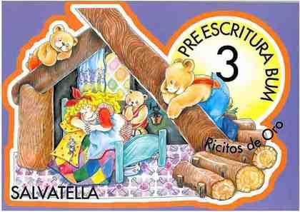 RICITOS DE ORO, PREESCRITURA BUM 3, EDUCACIÓN INFANTIL