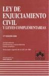 LEY DE ENJUICIAMIENTO CIVIL Y LEYES COMPLEMENTARIAS