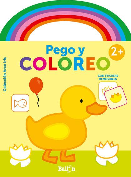 ARCO IRIS - PEGO Y COLOREO +2 PATO