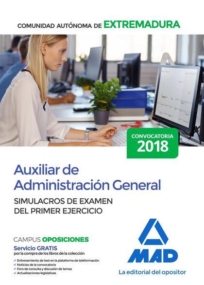 AUXILIAR DE ADMINISTRACIÓN GENERAL DE LA COMUNIDAD AUTÓNOMA DE EXTREMADURA. SIMU
