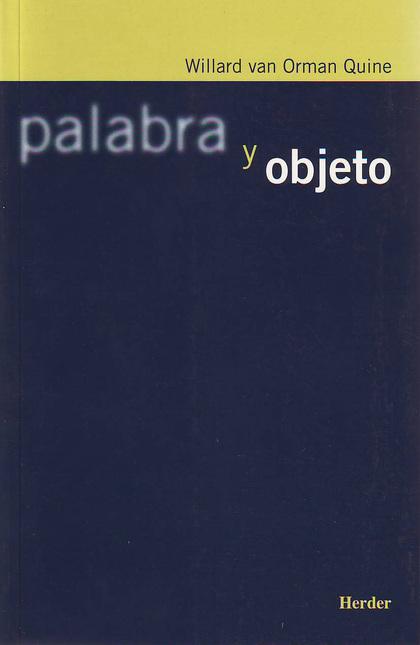 PALABRA Y OBJETO