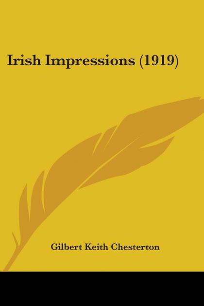 IRISH IMPRESSIONS (1919)