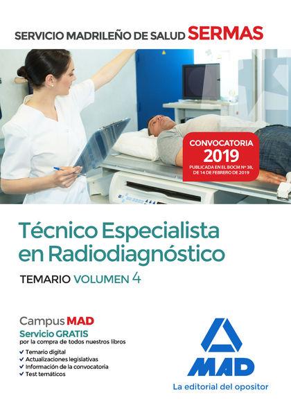 TÉCNICO  ESPECIALISTA EN RADIODIAGNÓSTICO DEL SERVICIO MADRILEÑO DE SALUD. VOLUM.