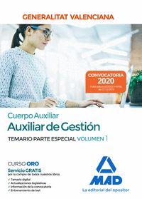 CUERPO AUXILIAR DE LA GENERALITAT VALENCIANA (ESCALA AUXILIAR DE GESTION). TEMAR